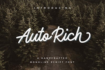 AutoRich Monoline Script
