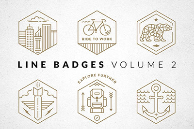 line-badges-logo-set 20+ Best Free Logo Templates design tips