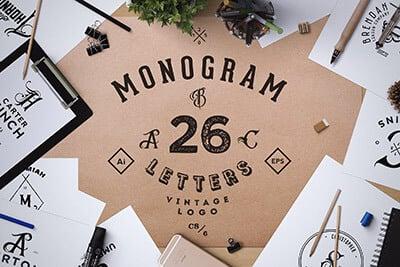 monogram-logos 30+ Best Free Logo Makers + Design Templates 2021 design tips