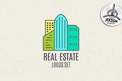 real-estate-logo-set 30+ Best Free Logo Makers + Design Templates 2021 design tips