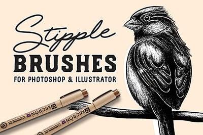 Stipple Brush Set
