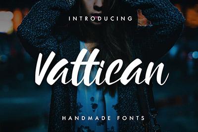 Vattican Brush Font