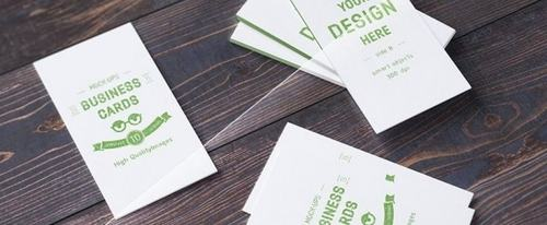 View Information about 10 Realistic Business Card Mock-ups