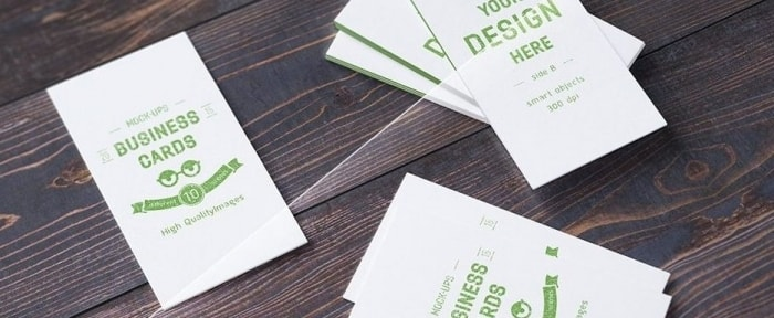 Go To 10 Realistic Business Card Mock-ups