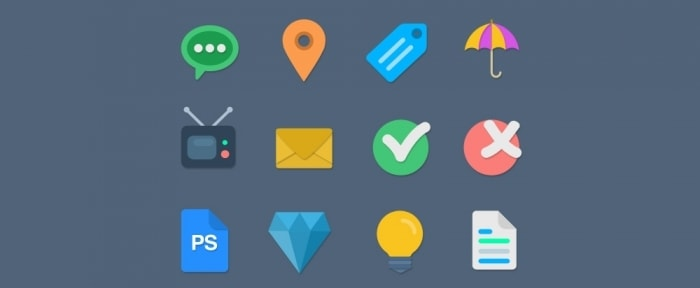 Go To 16 Flat Web Icons