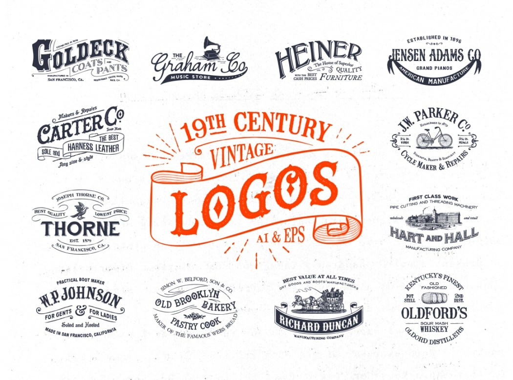 Go To 19th Century Vintage Logos