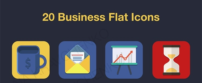 Go To Flat Business Icons