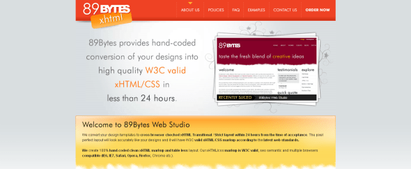 View Information about 89Bytes Web Studio