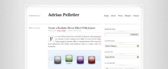 View Information about Adrian Pelletier