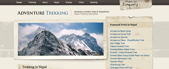 View Information about Adventure Trekking