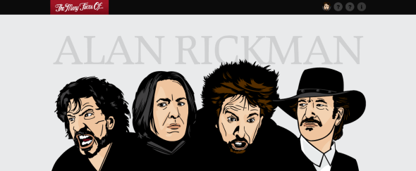 View Information about Many Faces of Alan Rickman