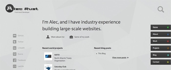 View Information about Alec Rust - Front-end Developer