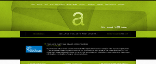 View Information about Alliance for Arts and Culture