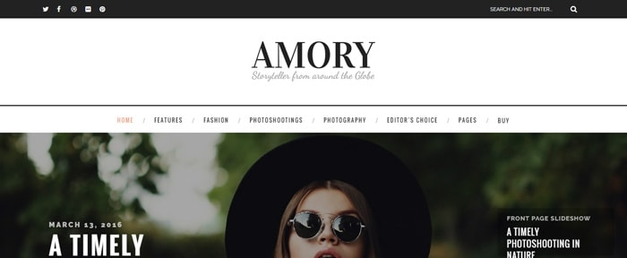 View Information about Amory - WordPress Blog Theme