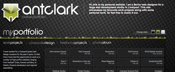 View Information about Ant Clark