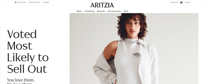View Information about Aritzia