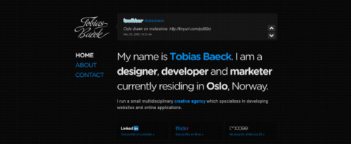View Information about Tobias Baeck