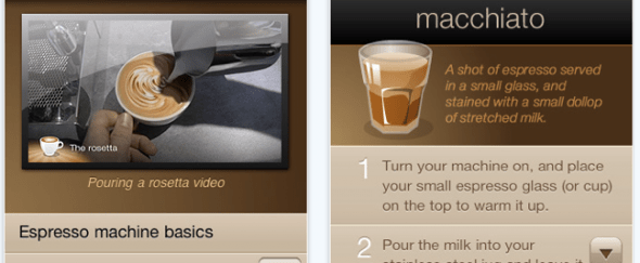 View Information about Barista for iPhone