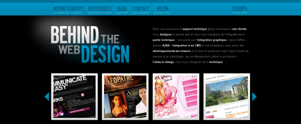 View Information about Behind the Web Design