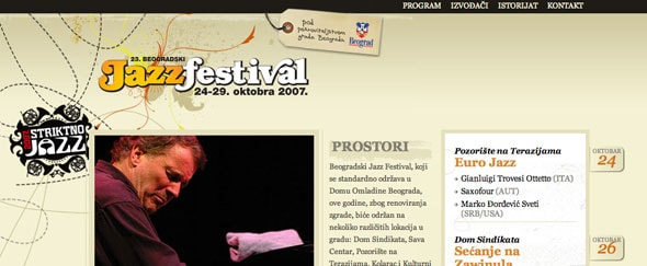View Information about Belgrade Jazzfest