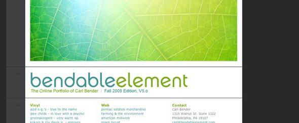 View Information about Bendable Element
