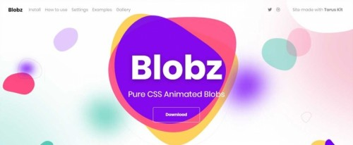 View Information about Blobz - CSS Animated Blobs