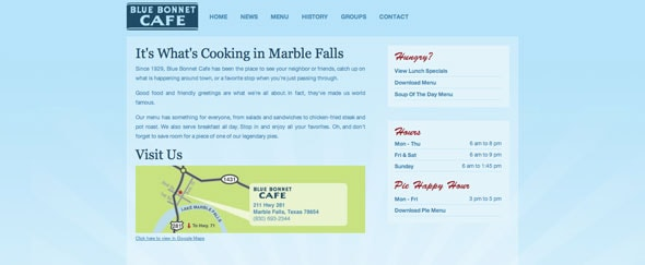 View Information about Blue Bonnet Cafe