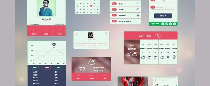 Go To Bold and Colourful UI Kit