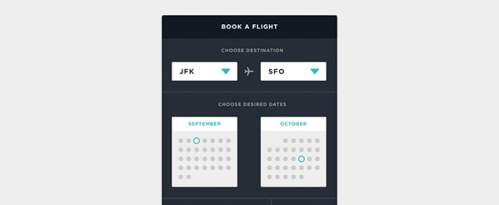 View Information about Book a Flight
