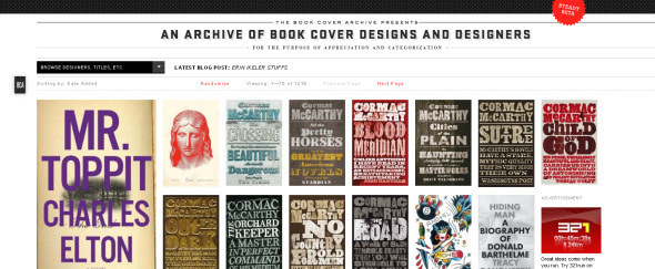 View Information about Book Cover Archive