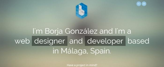 View Information about Borja González Portfolio