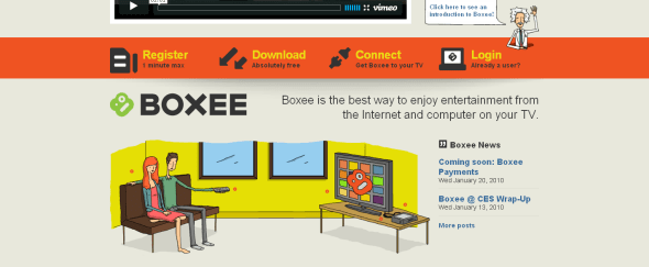 View Information about Boxee