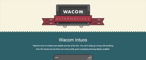 View Information about Wacom Alternatives