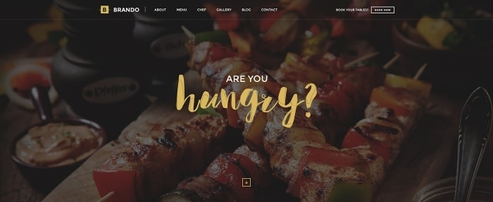 View Information about Brando Restaurant OnePage WordPress Site