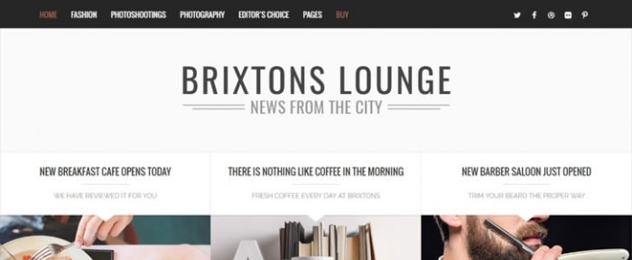 View Information about Brixton Blog Theme