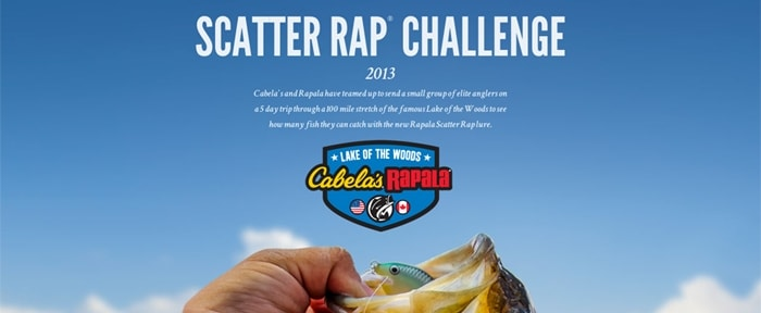 Go To Cabela's and Rapala Scatter Rap Challenge 2013
