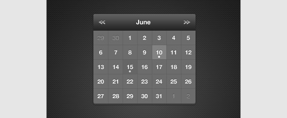 View Information about Calendar Dark