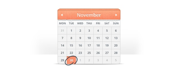Go To Calendar Icon UI