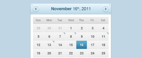 Go To Calendar Interface