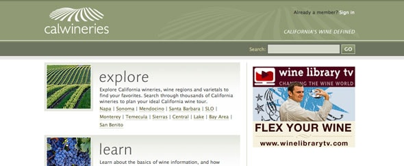View Information about Calwineries