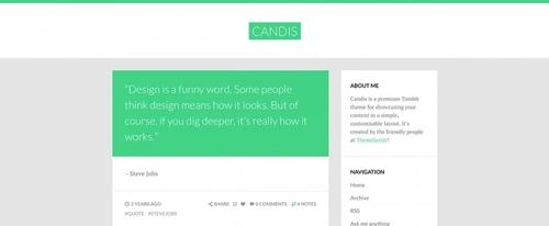 View Information about Candis Theme