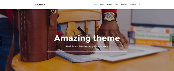 Go To Canna WordPress Theme