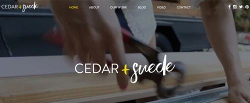 View Information about Cedar and Suede