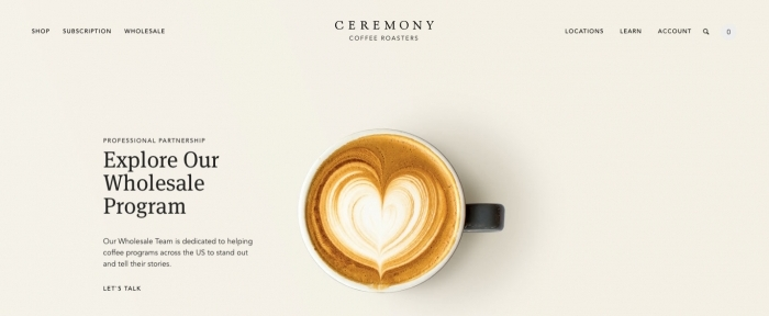 View Information about Ceremony Coffee