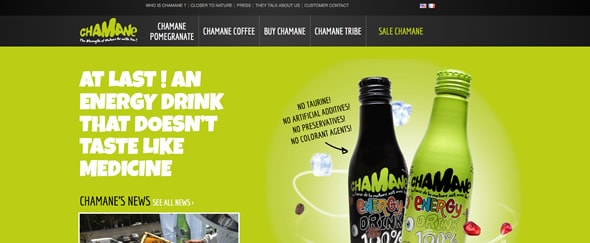 View Information about Chamane Energydrink