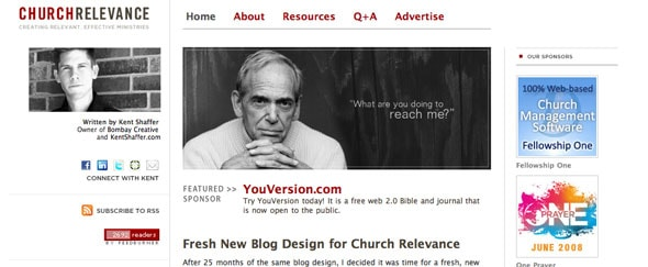 View Information about Church Relevance