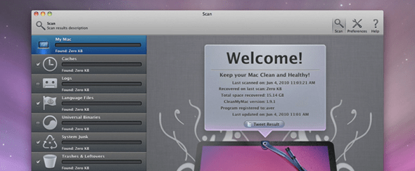 View Information about CleanMyMac