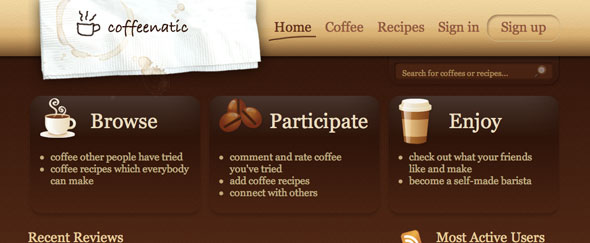 View Information about Coffeenatic