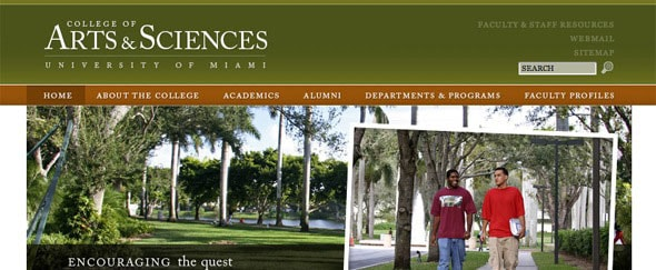 View Information about Arts and Sciences