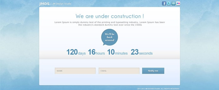 Go To Colorful Under Construction Pages